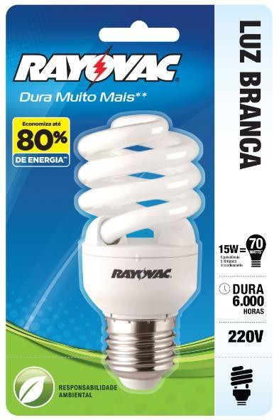 RAYOVAC LAMP. ESPIRAL 15W 220V